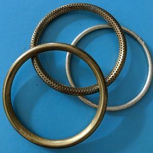 Vintage Textured Brass Bangles